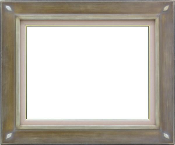 油彩額 油絵用額縁 7101 F4 銀 シルバー -新品
