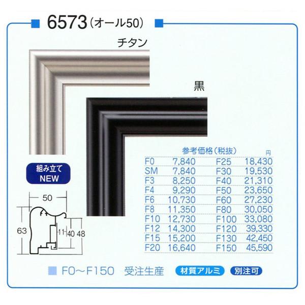 油絵用 アルミ額縁 仮縁 6573(オール50) F40 -新品