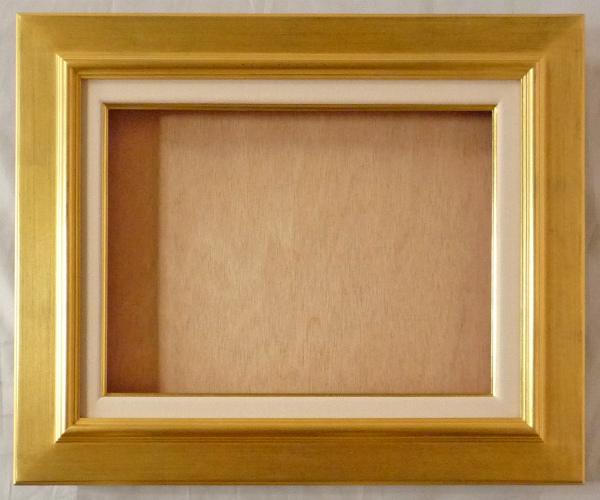 油彩額 油絵用額縁 オーロラ F25 金 ゴールド -新品