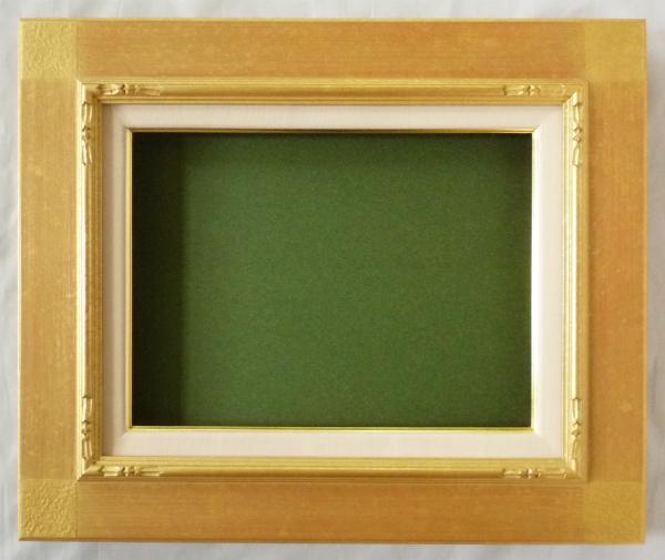 油彩額 油絵用 額縁 ( 平桃角紋 ) F50 金 ゴールド 新品