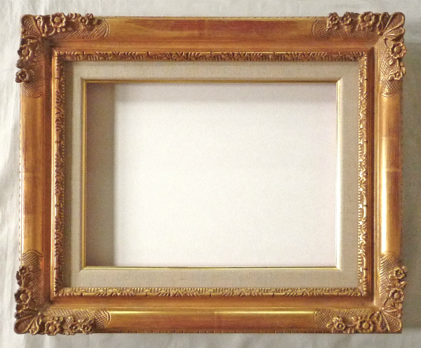 油彩額 油絵用額縁 珠小菊 F6 金 ゴールド -新品