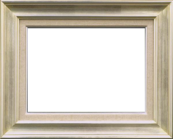 油彩額 油絵用額縁 7724 F20 (P20,M20) シルバー (アートフレーム)-新品