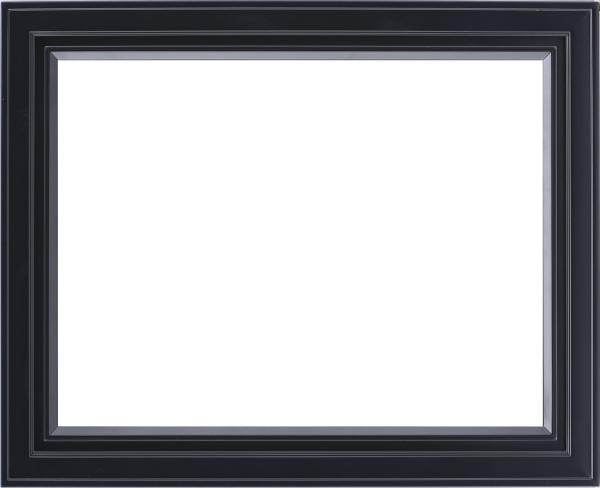 油彩額 油絵用額縁 7753 F20 ブラック 黒 -新品