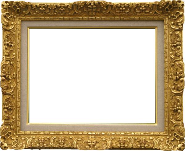 油彩額 油絵用額縁 7821 F4 ダークゴールド 金 (アートフレーム)-新品