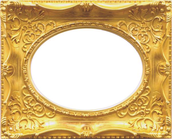 油彩額 油絵用額縁 7826 F4 ゴールド 金 (アートフレーム)-新品