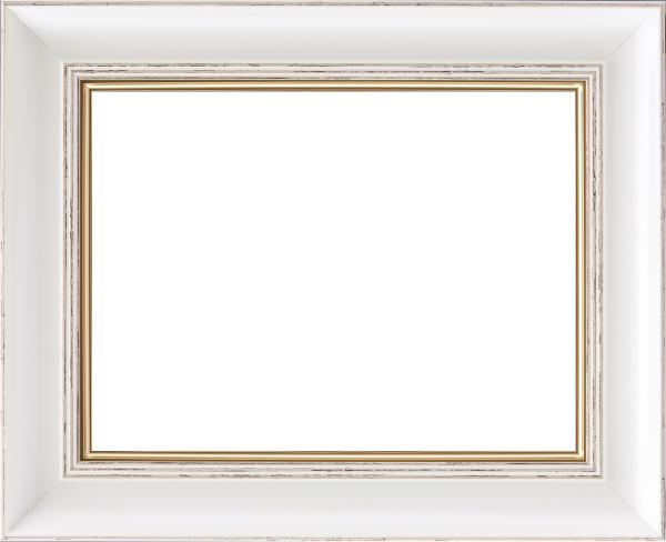油彩額 油絵用額縁 8160 F15 ホワイト 白 -新品