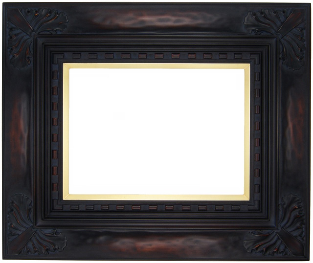 油彩額 油絵用額縁 石葉 F10 鉄黒 -新品