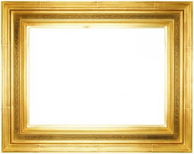 油彩額 油絵用額縁 珠回廊 F0 金 ゴールド -新品
