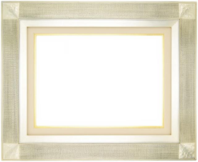 油絵 油彩額縁 ( 平傾斜角紋 ) F50 銀 アートフレーム -新品