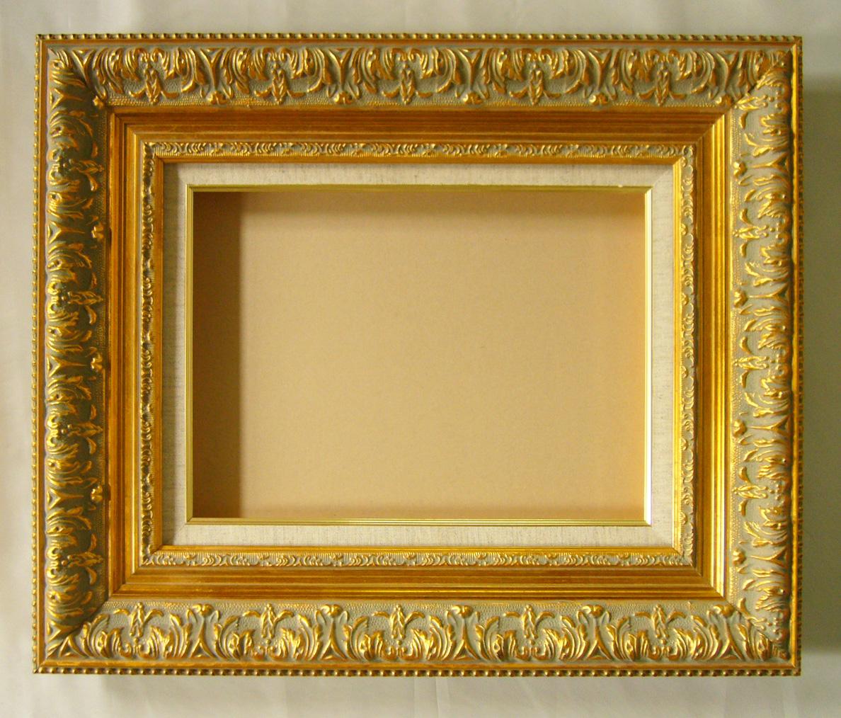 油彩額 油絵用額縁 ディアラ F120 P120 M120 金 ゴールド 枠と泥足(仮縁仕上げ) -新品