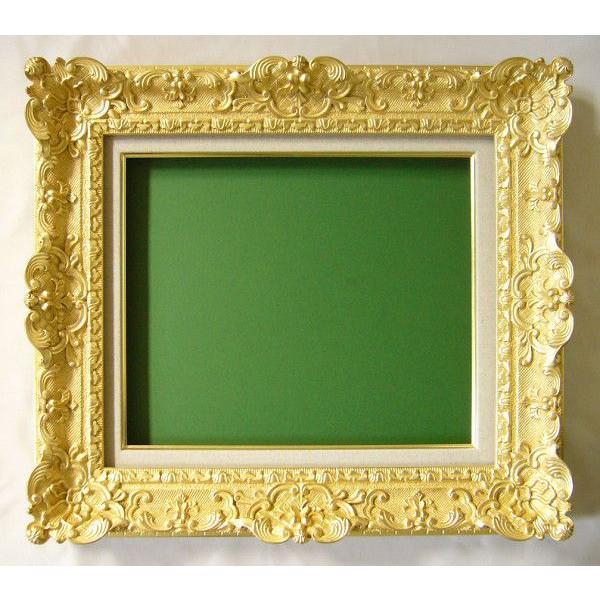 油絵用 油彩額縁 (7842) F12 ゴールド -新品