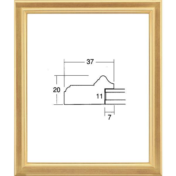 デッサン用 額縁 7501 小全紙(660X509mm) 金 ゴールド -新品