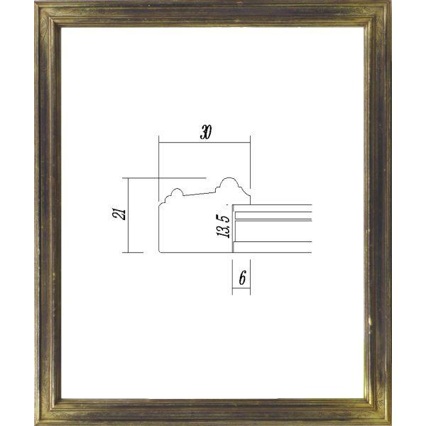 デッサン用 額縁 7509 大全紙(727X545mm) 古代シルバー -新品