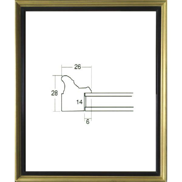 デッサン用 額縁 7515 大全紙(727X545mm) ゴールド -新品
