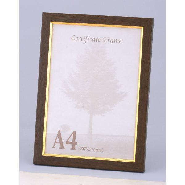樹脂製フレーム ポスター OA額縁 アートフレーム 9016 タイムセール 送料無料激安祭 ブラウン スタンド付 A4 -新品