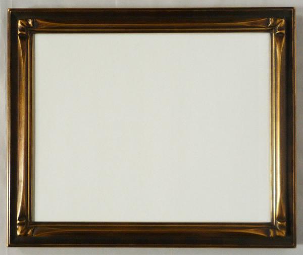 デッサン用 額縁 衣笠角紋 大全紙(727X545mm) いぶし金 -新品