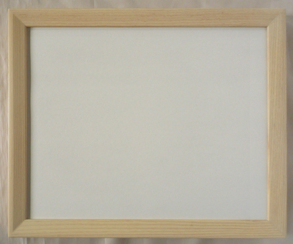 <title>木製フレーム デッサン用 額縁 緩W21 大衣 509X394mm 専門店 乳白 -新品</title>