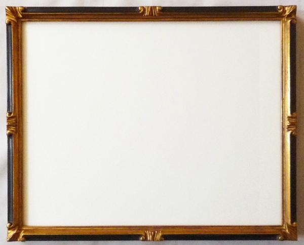 デッサン用 額縁 珠かんざし 小全紙(660X509mm) 金+黒 -新品
