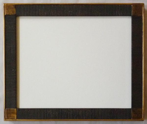 デッサン用 額縁 ボルドー水彩 小全紙(660X509mm) 鉄黒 -新品