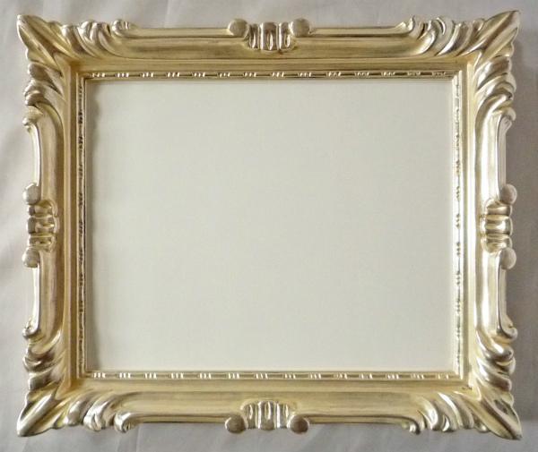 デッサン用 額縁 珠七市型デッサン 太子(379X288mm) 銀 シルバー -新品