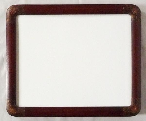 デッサン用 額縁 半丸水彩 大判(850X660mm) さび朱 -新品