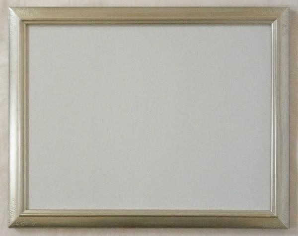<title>木製フレーム デッサン用 レビューを書けば送料当店負担 額縁 月山水彩 四ッ切 銀 シルバー -新品</title>