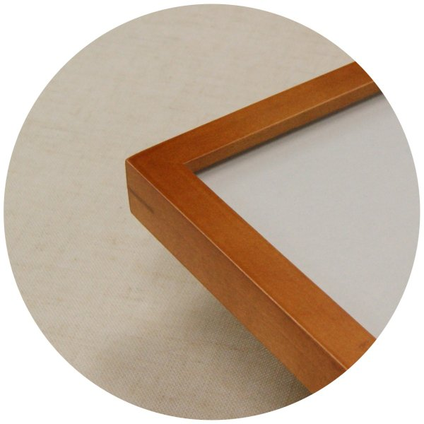 絶品 木製フレーム デッサン用 額縁 KAB -新品 木地 全国一律送料無料 半切