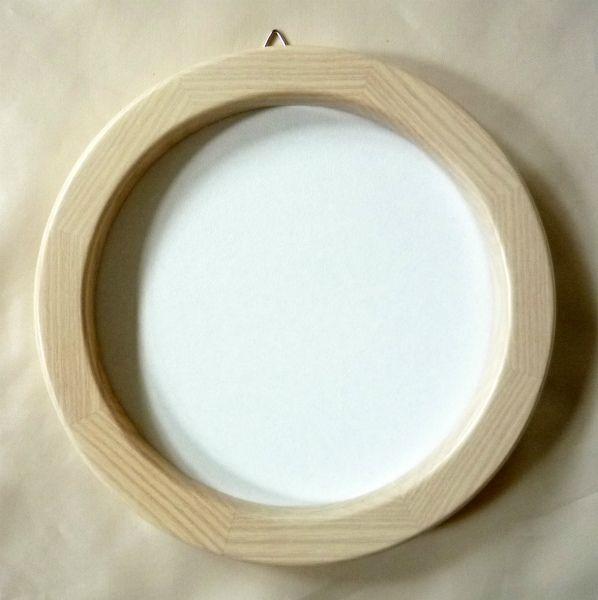 木製フレーム 超人気 円形額 オリジナル 正円 5266 -新品 ホワイト 150mm