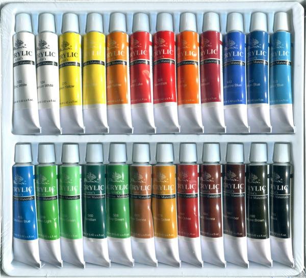 画材 激安卸販売新品 アクリル絵の具 WEB限定 12ml×24色 -特価品-新品