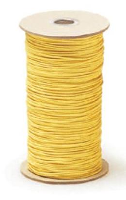美術金具 額縁材料 紐・ワイヤー ケブラー 6610 200m巻 黄 -新品