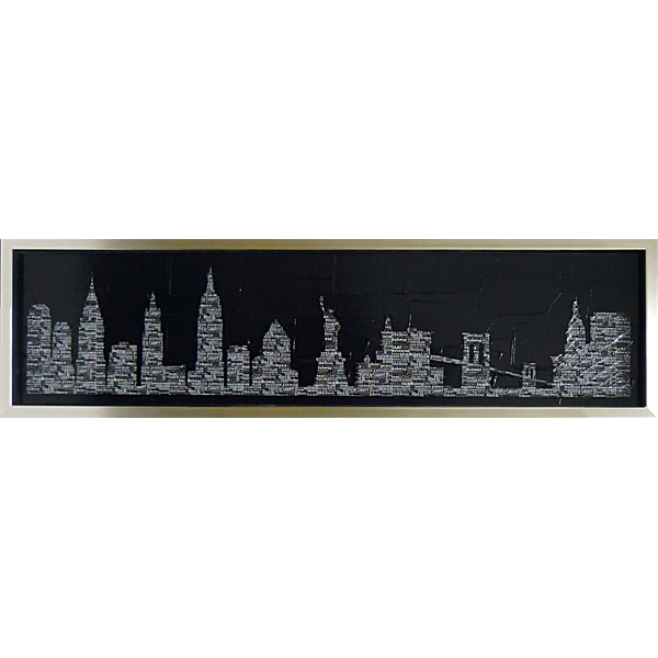 絵の表面を特殊ゲル加工 額縁付 絵画 品質検査済 永遠の定番 アートフレーム マックス カーター MC-15013-新品 スリッカー3 シティ