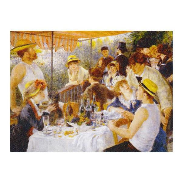 ピエール・オーギュスト・ルノワール作 「舟遊びをする人々の昼食」 P10号 額縁付 世界の名画シリーズ プリハード-新品