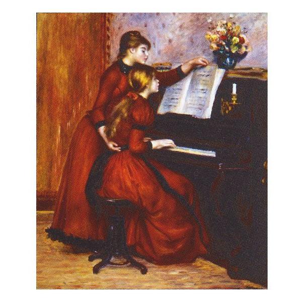 ピエール・オーギュスト・ルノワール作 「ピアノレッスン」 F8号 額縁付 F8号 世界の名画シリーズ 額縁付 プリハード-新品, ヴィヴィド フォー ユー:2a74cd8b --- sunward.msk.ru