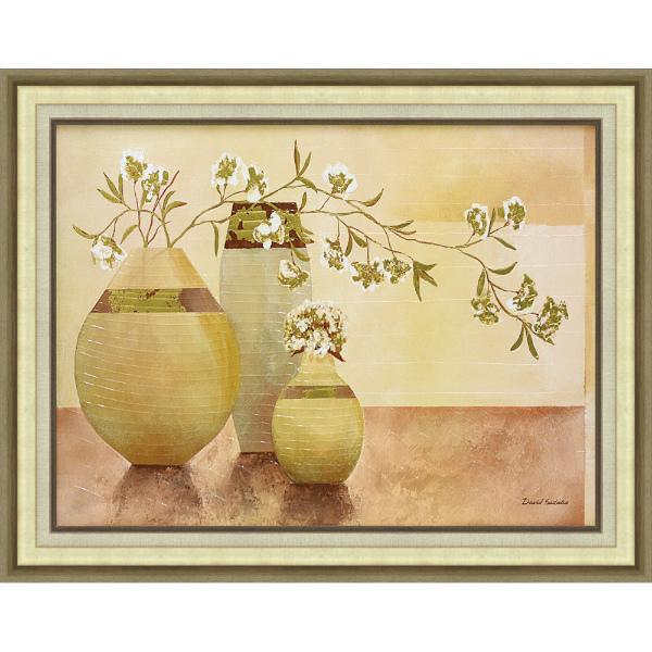 額縁付き 絵画 アートフレーム デビッド セダリア「ゴールデン ブロッサム」 DS-28001 -新品