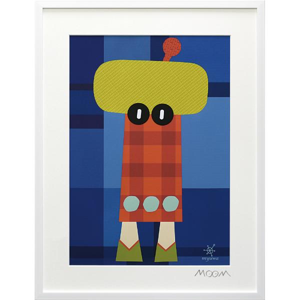 MoMo星から来たMoMo星人です 額縁付 MoMo carnival アートフレーム Lサイズ セール商品 MO-15001 ミュワ 爆安プライス -新品