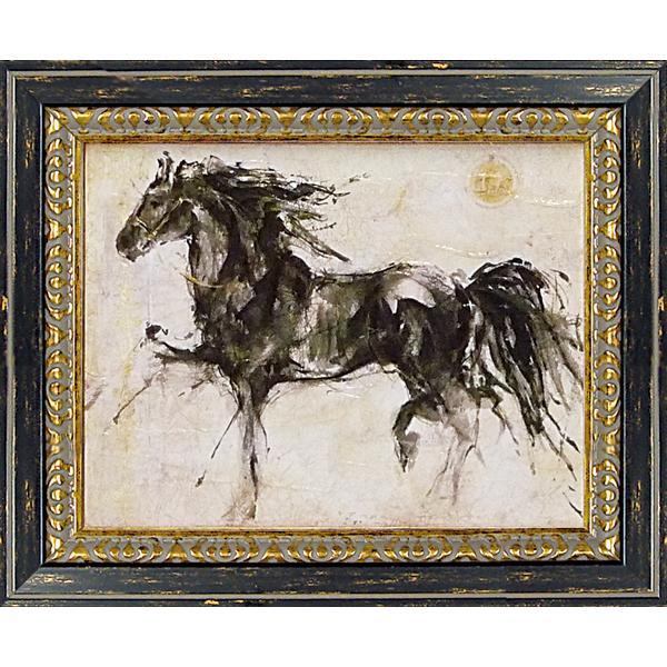 額縁付き 絵画 アートフレーム ゴッドフライド マルタ「ウィング ラン」 GA-07001 -新品