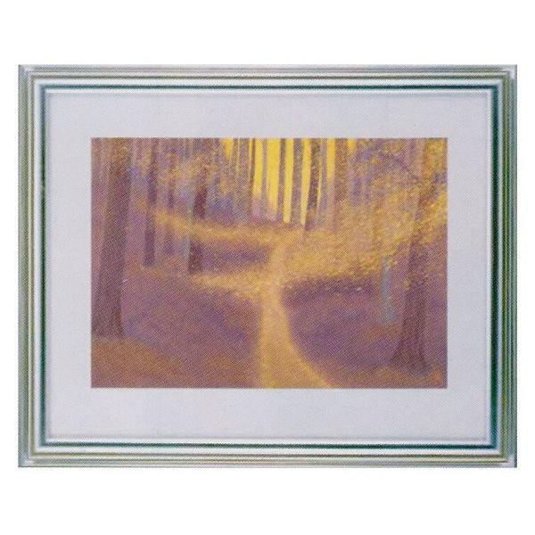 額装複製画 東山魁夷作 「木枯らし舞う」 F6号特寸 世界の名画シリーズ プリハード-新品 -送料無料