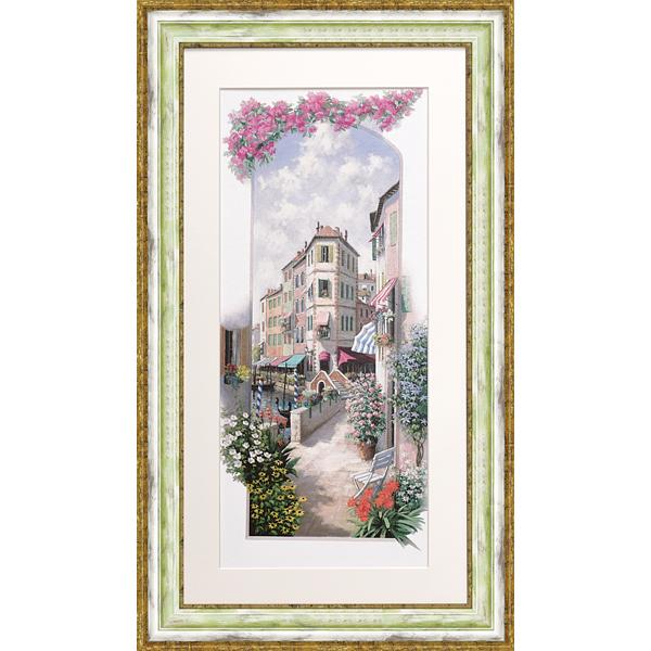 優しい雰囲気の風景画 額縁付き 絵画 ピーター トレンド モッツ パエーゼ PM-15053-新品 デポー ヴェネツィア