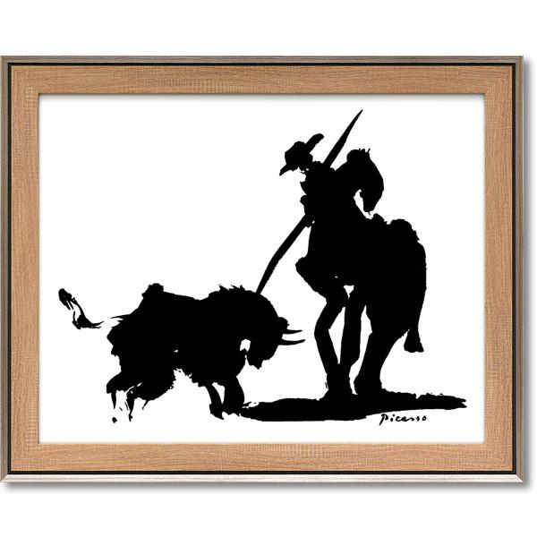 スペインの生んだ20世紀の巨匠 中古 アートフレーム 額縁付き 絵画 ピカソ ブルファイト PP-15004-新品 パブロ 新商品