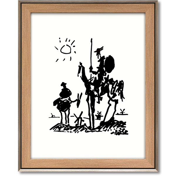スペインの生んだ20世紀の巨匠 アートフレーム 額縁付き 絵画 期間限定特別価格 PP-15005-新品 超特価 パブロ ドンキホーテ ピカソ