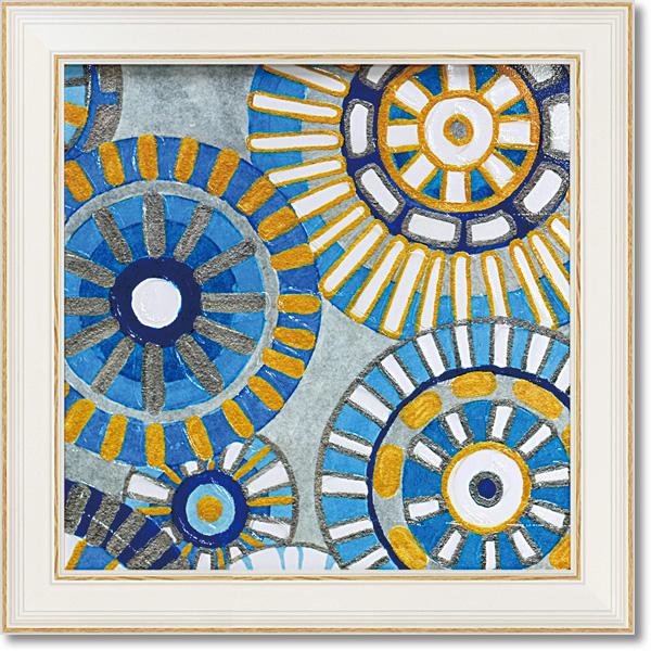 額縁付き 絵画 アートフレーム デビー バンクス「サークル デライト3」 DB-06003 -新品