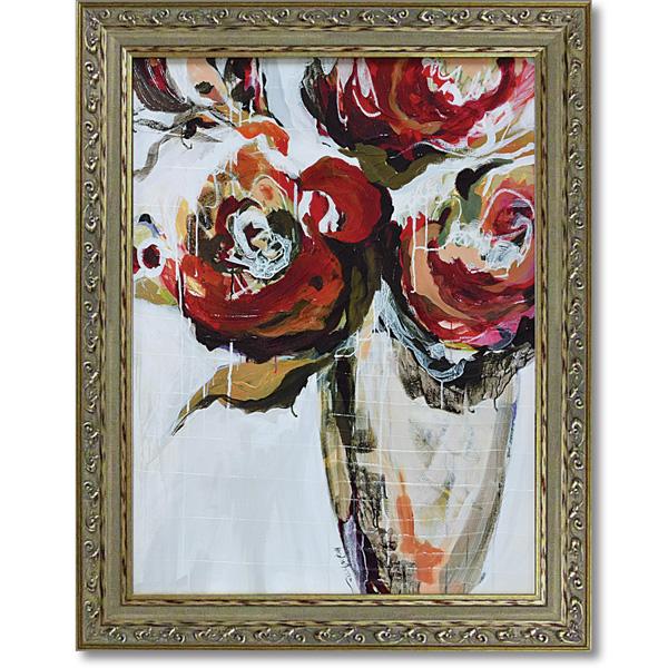 額縁付き 絵画 アートフレーム アンジェラ マリッツ「パーシモン ブルーム」 AM-15002 -新品