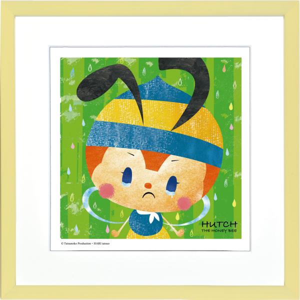 タツノコプロの名作アニメの世界をお楽しみいただけます 絵画 超歓迎された ジークレー版画 アートコレクション 額縁付 400x400mm -新品 みなしごハッチ 美品 こわがるもんか はりたつお