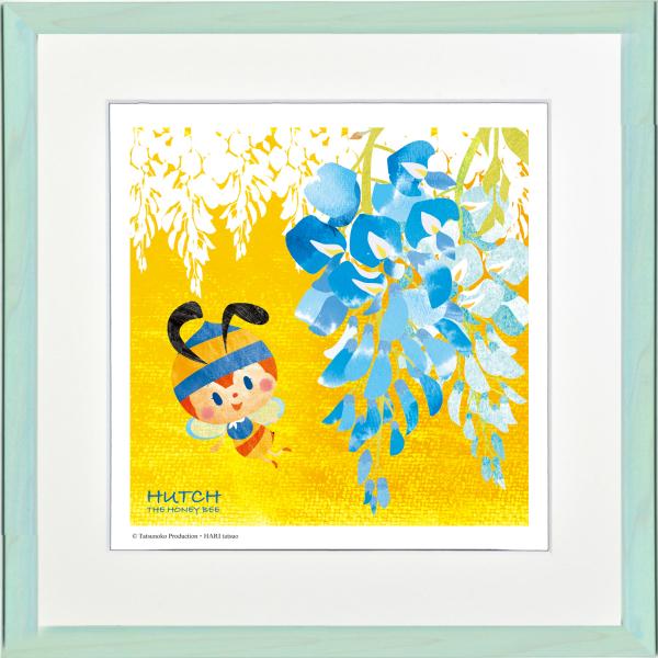 タツノコプロの名作アニメの世界をお楽しみいただけます お洒落 絵画 ジークレー版画 アートコレクション 額縁付 はりたつお 購入 -新品 乙女のかんざし みなしごハッチ 400x400mm