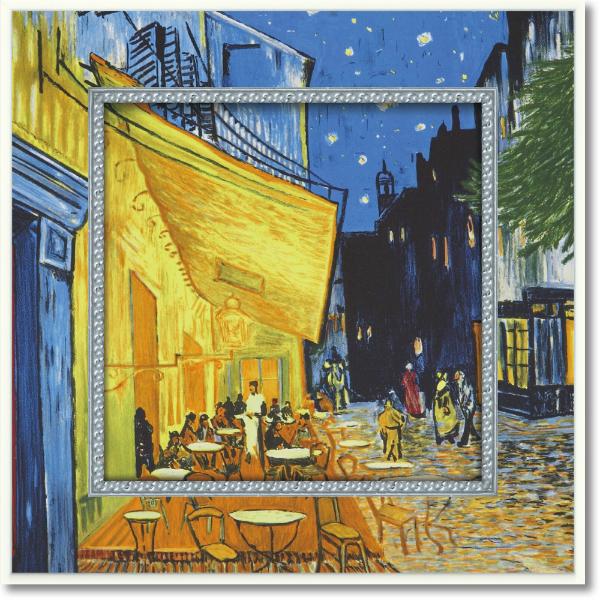 UVプリントでいつまでも色あせない 高級品 人気ブレゼント! ビッグアート ミュージアム アートコレクション BA-05011-新品 夜のカフェテラス ゴッホ
