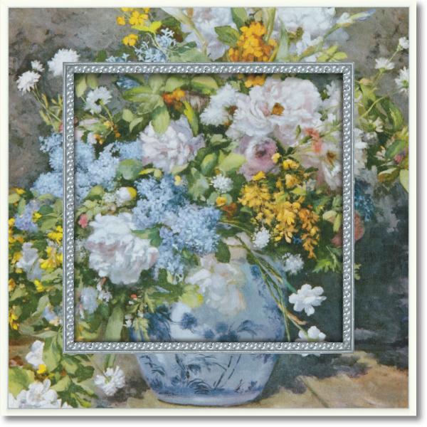 <title>UVプリントでいつまでも色あせない ビッグアート ミュージアム アートコレクション ルノワール 大きな花瓶 チープ BA-05015-新品</title>