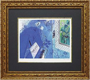 額縁付き ミュージアムシリーズ ジグレー版画 ラウル・デュフィ「モーツァルトに捧ぐ」 MW-18062-新品