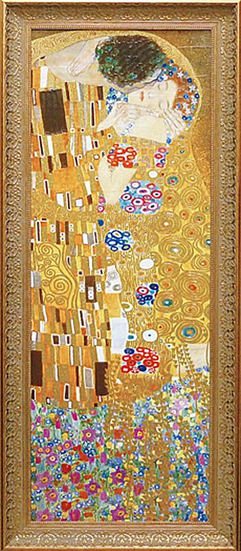 額縁付き 絵画 クリムト 「ザ・キス」 GK-18001-新品