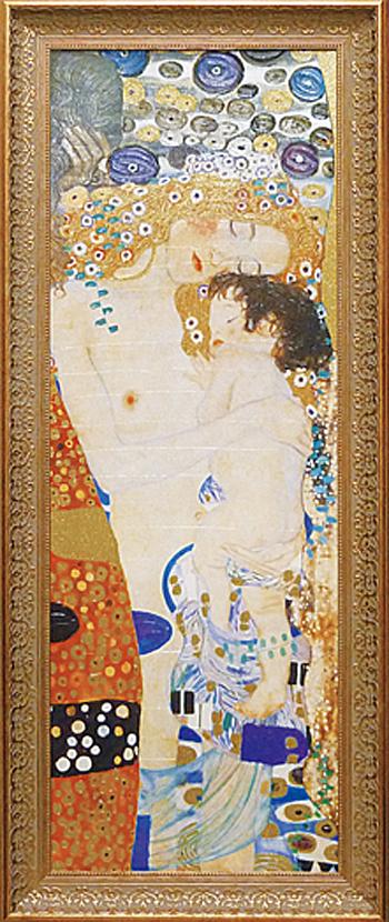 額縁付き 絵画 クリムト 「人生の三段階」 GK-18003-新品