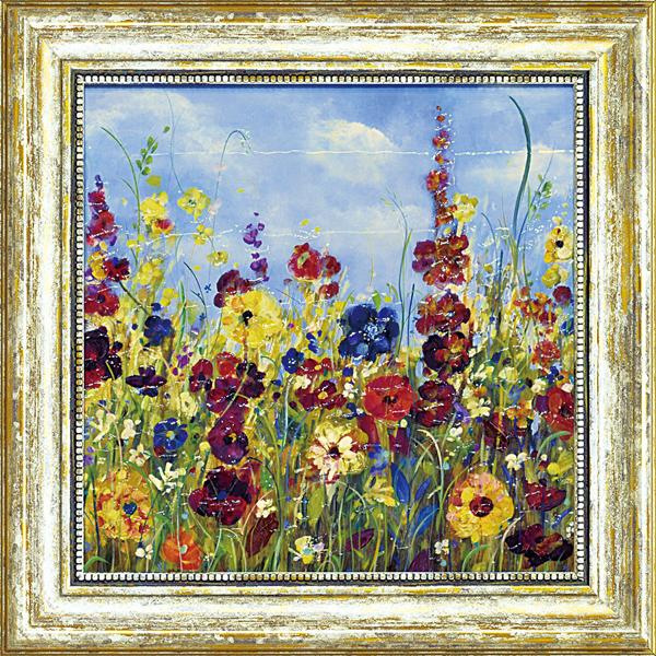 額縁付き 絵画 アートフレーム カルメン ドルチェ「サンシャイン メドウ1」 CD-06511-新品